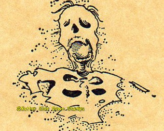 Rotted Zombie  Rubber Stamp