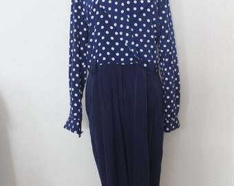 Vintage DOT /NAVY ROMPERS