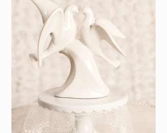 Modern Dove Wedding Cake Topper -  103717