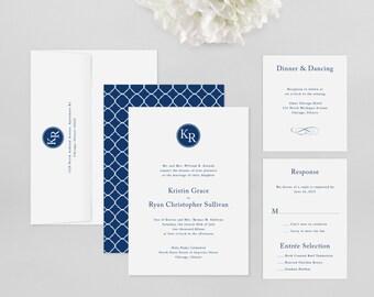 Wedding Invitation Modern Sample - Kennedy - Wedding Invitation, Modern Wedding Invitation, Modern Wedding Invitations, Wedding Invitations