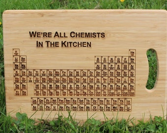 periodic table of elements were all chemists in the kitchen personalised chopping - Periodic Table Of Elements Ya