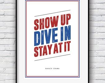 Barack Obama, Inspirational Quote, Barack Obama Poster, Motivational Print, Obama Quote, Quote poster, Typographic print