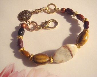 My#32BR Coffee Bean Wirebead Bracelet!- Limited Edition! Unique! Very Pretty! New! Size:6-8""