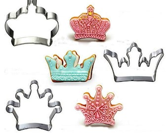 Crown Cookie Cutter, Tiara Cookie Cutter, Queen Cookie Cutter, Princess Cookie Cutter, Cookie Cutter 3 pieces Set