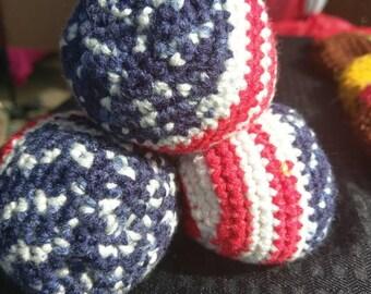 Patriotic Juggling Balls
