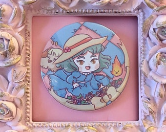 Ghibli Buttons- Howls Moving Castle