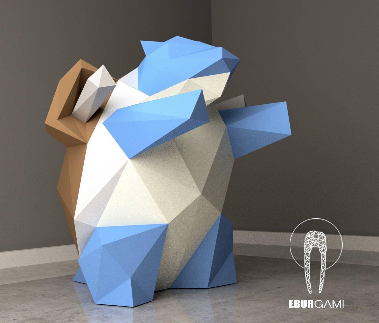 Paper Craft Diy Blastoise Pokemon Paper Model Art Low # Muebles Pokemon