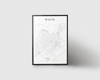 Waco Map Print
