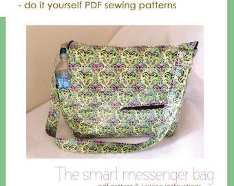 The smart messenger bag - PDF sewing pattern