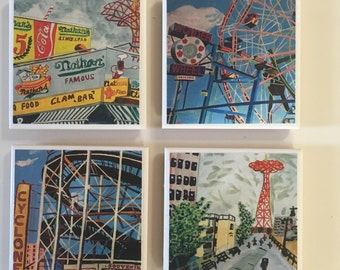 Coney Coaster Set #2