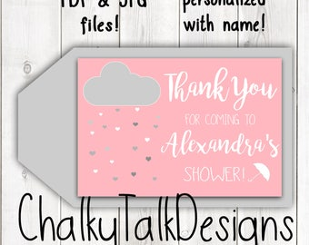 Baby or Wedding Shower ideas, shower favors, Baby shower favor tags, wedding shower favor tags, pink and gray shower gift tags, favor tags