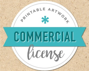 Commercial License for Printable Art