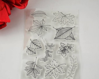Fallen Tree Leaves Clear Stamp Set