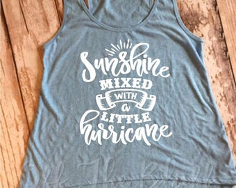 Sunshine Mixed With A Little Hurricane Little Girl High Low Tank Top