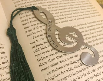 Bookmark, lover gift, father in law, new dad gift, Music lover gift, Music bookmark, Music teacher, Book lover gift, reading gift, music