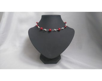 Wired pearls Choker necklace