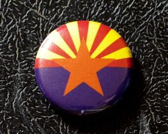 """1"""" Arizona flag button, state, pin, badge, pinback"""