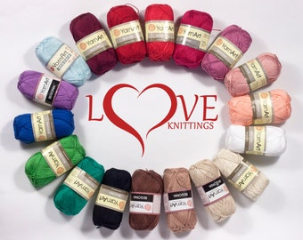 100% mercerized cotton yarn,  Knitting crochet yarn, Begonia 50g 169m