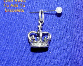 Monarch Crown in STERLING Silver CHARM for the PRINCESS in Your Life