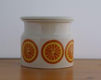 Arabia Finland Pomona Orange marmalade Jar