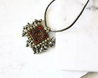 Antique Kuchi pendant necklace // Kuchi necklace // vintage jewlery