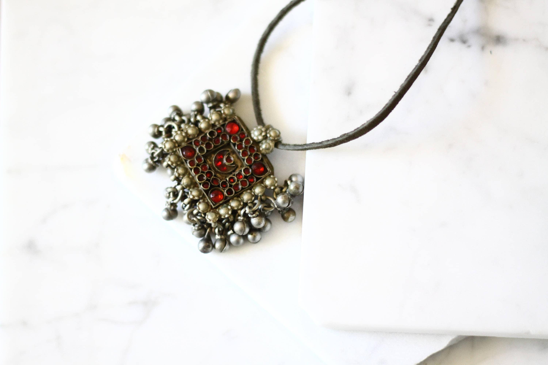 Antique kuchi pendant necklace kuchi necklace vintage jewlery aloadofball Images