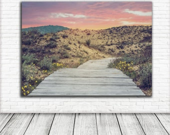 Beach Photography Print, Beach Dune wooden pathway Nautical Wall Art Print sand beach Photography Wall Art Digital  Download Nature print