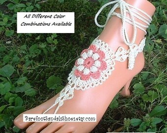 Quality ~ Layered ~ Ankle Bracelets ~ Foot Chain Jewelry ~ Barefoot Sandals Wedding ~ Crochet ~ Hippie Boho ~ Bohemain Clothes ~ (2 pieces)