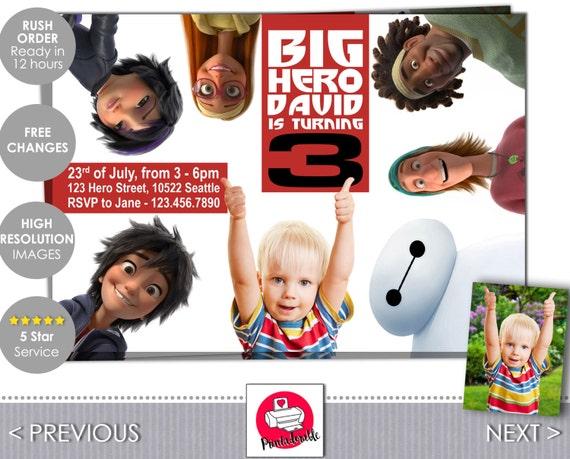 Big Hero 6 Invitation - Big Hero 6 Invite - Baymax - Big Hero 6 - Baymax Invite - Baymax Invitation - Big Hero Invite - Big Hero Invitation