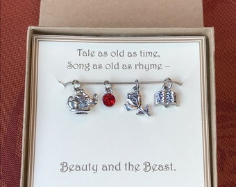 Beauty and the Beast Necklace - C236 - Beauty and the Beast Gift - Beauty and the Beast Wedding - Beauty and the Beast Jewelry - Disney Gift