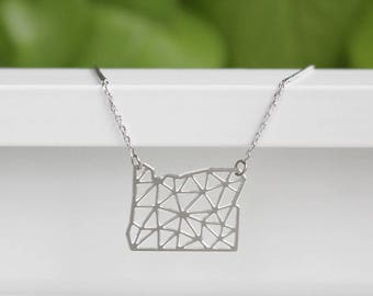 Oregon Geometric Necklace | Silver | Small | ATL-N-188-S