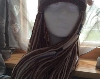 Festival fun woodland elf hat with hair