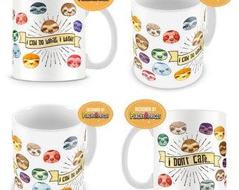 Cute Sloths Mug - Sloth Mug - Sloth Gift - Sloth Mode - Sloth Art - Sloth Love - Sloth Life - Lazy Sloth - Sloth baby - Cute Animals