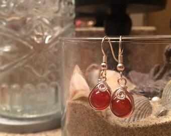Amber Honey Drop Earrings