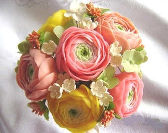 Wedding Reception Flowers Spring Ranunculus Wedding Decor Table Settings Flowers Made-to-Order