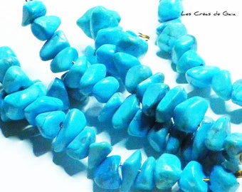 15 x howlite beads, turquoise, irregular shapes