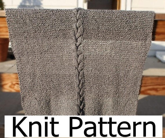 Cable knit blanket pattern, easy knit blanket pattern, easy knit ...
