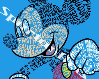 Disney Typography: Mickey Mouse