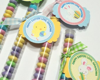 Easter treats, easter favors, Easter Pals treat favor stacks for coworkers, teachers, classroom treats, easter baskets