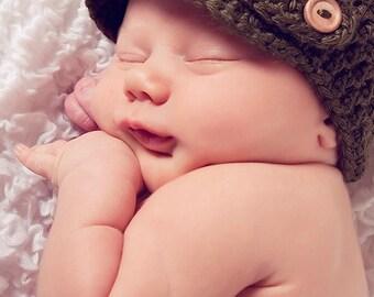 Crochet PATTERN - Crochet Hat Pattern - Crochet Baby Hat - Newsboy Hat Pattern - Crochet Patterns for Boys - Includes 6 Sizes - PDF 197