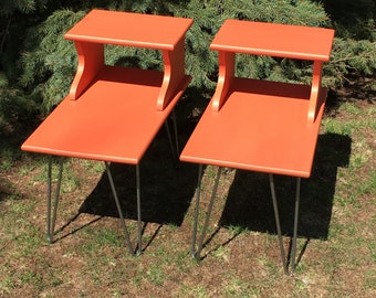 Mid-Century Modern Side Tables - Pair - LOCAL DELIVERY ONLY