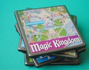 Disney World Map Coasters - Set of Four