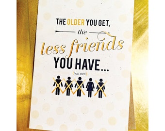 Getting Old/ Funny, Humorous Best Friend Birthday Card