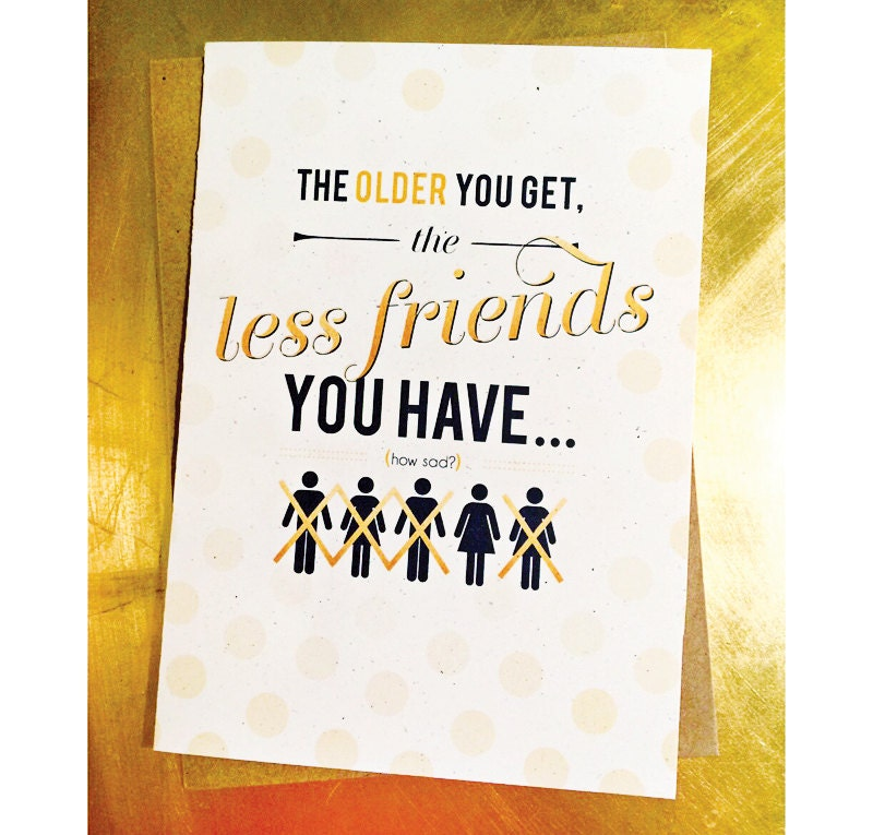 Getting old funny humorous best friend birthday card zoom bookmarktalkfo Images