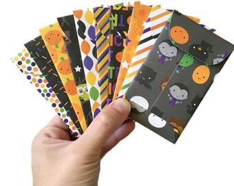 Set of 10 // Gift Card Holders // Halloween Envelopes // Mini Envelopes // Gift Card Envelopes // Gift Envelopes // Treat Envelopes
