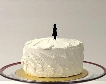 ADD ON GIRL Child Silhouette Cake Topper  Add on for any silhouette Wedding Cake Topper Bride Little Girl Child