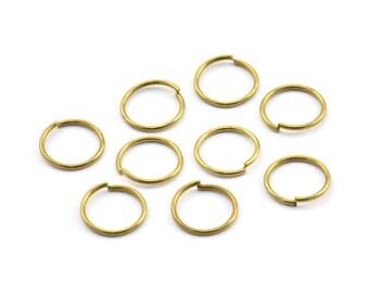 10mm Jump Ring - 100 Raw Brass Jump Rings (10x0.85mm) A0324
