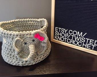 Elephant Easter Basket Storage Bin