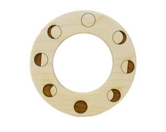 Moon Phase Wooden Teether - Moon Phases - Baby Shower Gifts - Lunar New Year