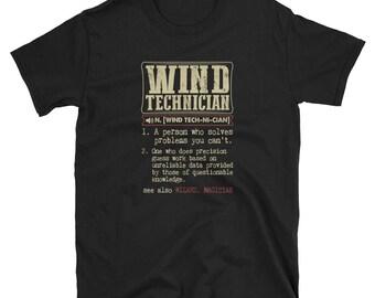 Wind Technician Shirt Definition Gift  Tee